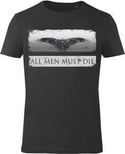 T-Shirt - Game of Thrones: All Men Must Die - Schwarz - Gr. L