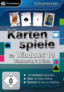 Kartenspiele für Windows 10. Für Windows Vista/7/8/8.1/10