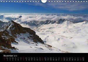 the alps between mountain and valley (Wall Calendar 2015 DIN A4