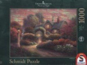 Schmidt 59466 - Thomas Kinkade, Cottage im Rosengarten, Puzzle 1