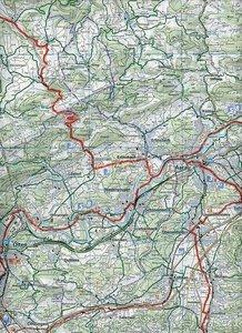 KuF Schweiz Radkarte 04 Basel 1 : 60 000. Velokarte 4