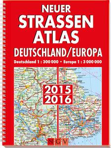 Neuer Straßenatlas Deutschland/Europa 2015/2016