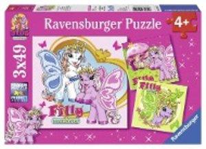 Fillys Schmetterlingsfreunde. Puzzle 3 X 49 Teile