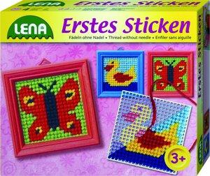 Lena 42010 - Erstes Sticken, Fädeln ohne Nadel, sortiert