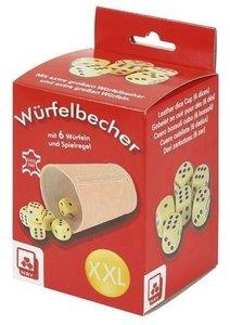 Würfelbecher XXL in Faltschachtel