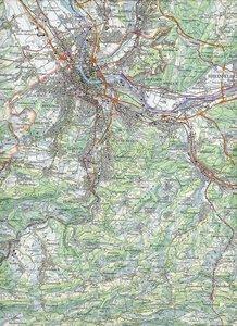 Swisstopo 1 : 100 000 Basel Luzern