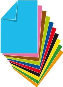 Stylex - Tonzeichenpapier, DIN A4, 20 Blatt, 10 Farben, 120g/qm