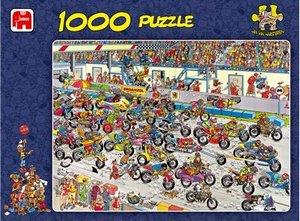 Jan van Haasteren - Motorradrennen - 1000 Teile Puzzle