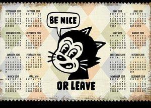 Funhouse57 2015-2016 16-Month Calendar Poster