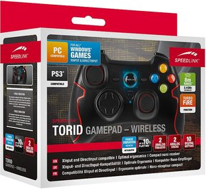 Speedlink TORID Gamepad - Wireless - for PC/PS3, black