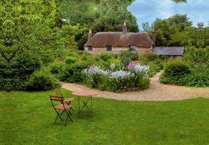 Premium Textil-Leinwand 45 cm x 30 cm quer Thomas Hardy Cottage