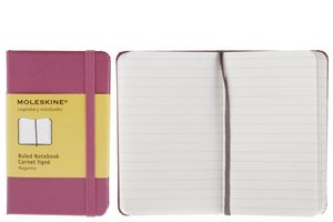 Moleskine Extra Small Ruled Notebook Extra Dark Pink