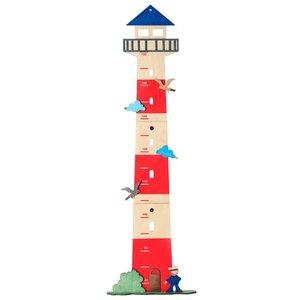 Sevi 35271 - Messlatte Leuchtturm, Holz 80 bis 150 cm