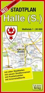 Halle (Saale) 1 : 20 000. Stadtplan
