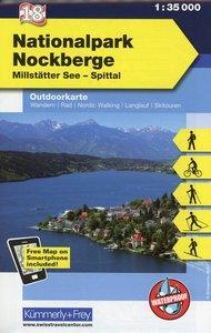 KuF Österreich Outdoorkarte 18 Nationalpark Nockberge 1 : 35 000