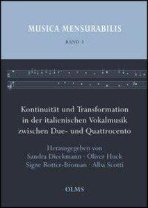 Kontinuität und Transformation in der italienischen Vokalmusik z