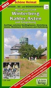 Wander-, Ski- und Radwanderkarte Hochsauerland, Winterberg, Kahl
