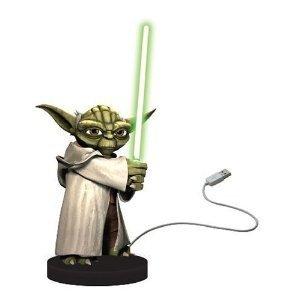 Joy Toy 21398 - Star Wars: Yoda Plastikfigur mit Lichtschwert