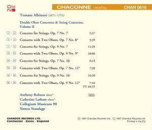 Double Oboe & String Conc.Vol.2