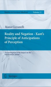 Reality and Negation - Kant's Principle of Anticipation of Perce