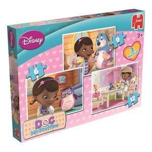 Disney Doc McStuffins Trio Puzzle 6/9/12 Teile