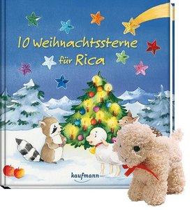10 Weihnachtssterne für Rica (mit Stoffschaf)