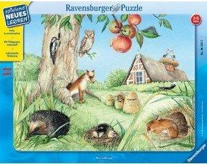 Ravensburger 06335 - Wer lebt wo? 11 Teile Puzzle