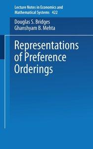 Representations of Preferences Orderings