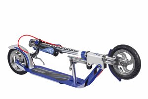 Hudora 14015 - Big Wheel AIR 205 Brake, Scooter 205 mm Rolle
