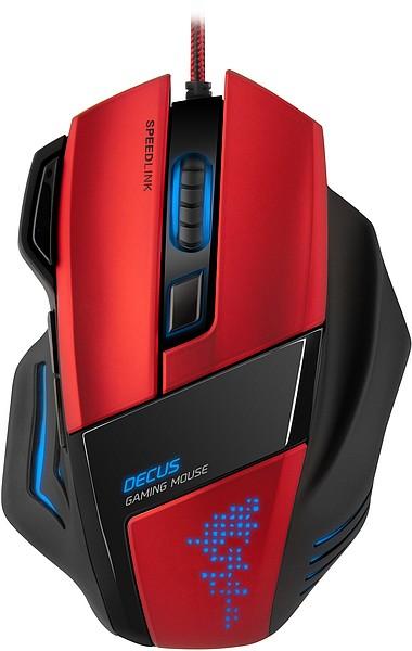 DECUS Gaming Mouse, schwarz / rot - zum Schließen ins Bild klicken
