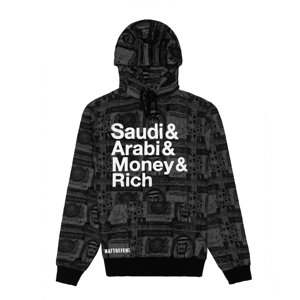 Saudi Arabi Money Rich (XL)Hoodie Black