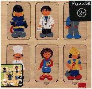 Goula D53070 - Holzpuzzle Berufe, 12-teilig
