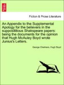 An Appendix to the Supplemental Apology for the believers in the