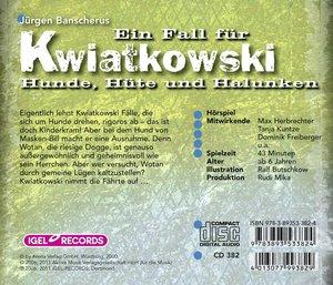 Ein Fall für Kwiatkowski - Hunde, Hüte und Halunken