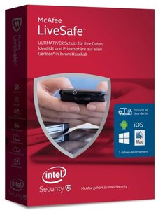 McAfee LiveSafe 2016 Unlimited Devices (Standalone) (Code in a B