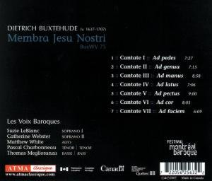 Buxtehude: Membra Jesu Nostri,BuxWV 75
