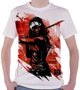 The Walking Dead - Dead Micheonne Samurai - T Shirt, Weiß, Größe
