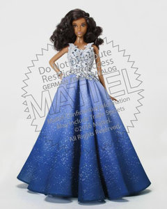 Barbie 2016 Holiday DOLL schwarz