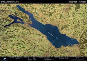 Landschaften aus dem Weltraum Bodensee Satellitenbildkarte 1: 75