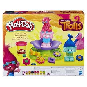 Hasbro B9027EU4 - Play-Doh, Trolls Friseursalon, Knete