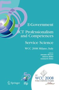 E-Government - ICT Professionalism and Competences Service Scien