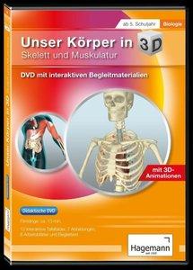 Didaktische DVD Unser Körper in 3D - Skelett und Muskulatur. DVD