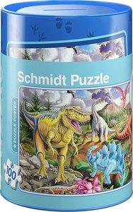 Schmidt 56916 - Dinosaurier Puzzles in Spardose, 100 Teile