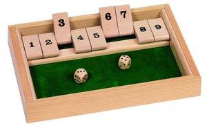 Goki HS075 - Shut the Box, Würfelspiel
