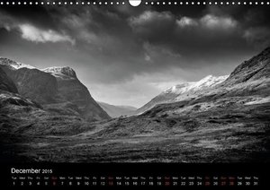 Black and White Scotland (Wall Calendar 2015 DIN A3 Landscape)