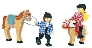 Goki 53906 - Biegepuppen Reiter und Pferde Marah & Maris