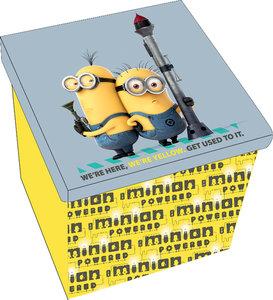 Minions faltbarer Aufbewahrungshocker, Design: Here we are