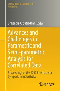 Advances and Challenges in Parametric and Semi-parametric Analys
