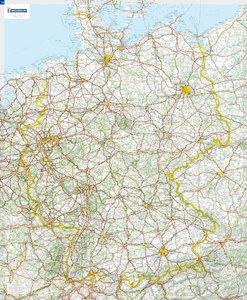 Michelin Deutschland 1 : 750 000. Poster-Karte mit Leiste
