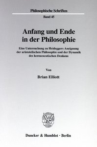 Anfang und Ende in der Philosophie